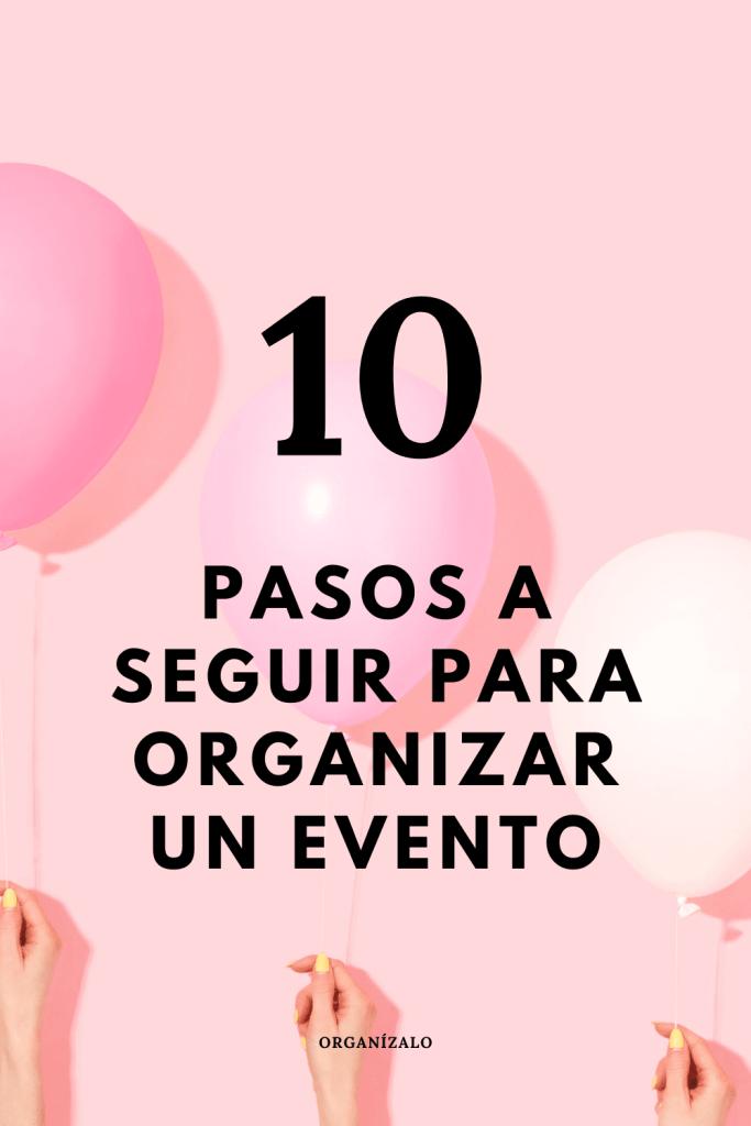 Organizar evento
